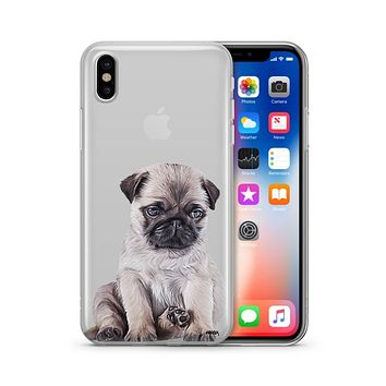 Baby Pug - Clear TPU Case Cover