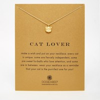 Dogeared   Dogeared Gold Plated Cat Lover Reminder Necklace at ASOS