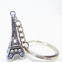 Eiffel Tower Keychain - France Keychain - Christmas Ornaments - Eiffel Tower Christmas Ornament - Keepsake Travel Accessories - Small Gifts