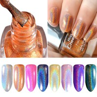 holographic nail polish 1pc 12ml big bottle diamond Laser Symphony metal mirror glitter nail art lacquer health beauty