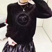 ''CHANEL'' Velvet Set head Sweater