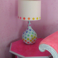 Rainbow dot lamp and shade