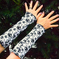 Jack Skellington bats Arm Warmer Gloves Nightmare Before Christmas