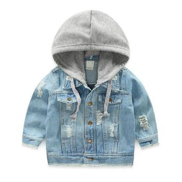 Trendy LILIGIRL Vintage Girls Casual Jeans Jacket for Baby Boys Hooded Denim Clothes Coats Outwear Kids Autumn Tops Coat Jackets AT_94_13