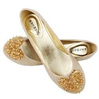 Bamboo Hunter49 Natural Beaded Heart Round Toe Ballet Flats and Womens Fashion Clothing  Shoes - Make Me Chic