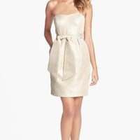 Women's Jenny Yoo Metallic Jacquard Sheath Dress (Online Only)