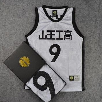 PEAPON SLAM DUNK Cosplay costumes Akita Sannoh School Basketball Team No.9 Sawakita Eiji Jersey Sportswear Basketball Vest Tops M-XXL