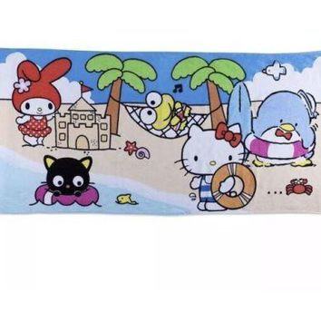 SANRIO BEACH TOWEL Terrycloth VACATION Hello Kitty Sanrio Loot Crate EXCLUSIVE