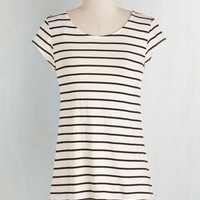 Mid-length Cap Sleeves Slip into Simplicity Top