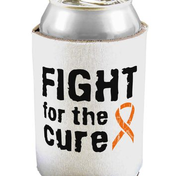 Fight for the Cure - Orange Ribbon Leukemia Can / Bottle Insulator Coolers