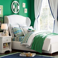 Raleigh Wingback Bed + Headboard