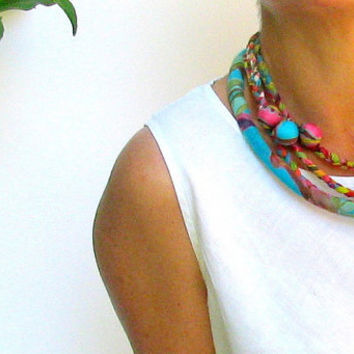 colorful braided necklace neck ornament multy braided by ATLIART