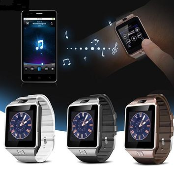Wearable Smartwatch Devices DZ09 U8 Smart Touch Watch Digital Electronics SIM TF Card Bluetooth Phone Men For Sport Android Wach