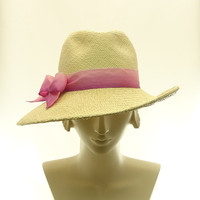 Wide Brim Hat for Women Fedora Straw Hat in by TheMillineryShop