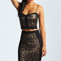 Lily Leopard Print Panel Bralet