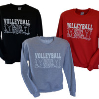 Volleyball Mom Crew Neck Sweat Shirt  NEW