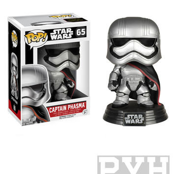 Funko Pop! Star Wars: Captain Phasma [EP7] - Bobble-Head