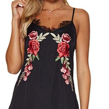 Fashion Women Floral Embroidery Beach Dress V Neck Sexy Lace Summer Dress Female Club Short Party Dresses