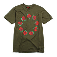 9 Year Roses T-Shirt Olive