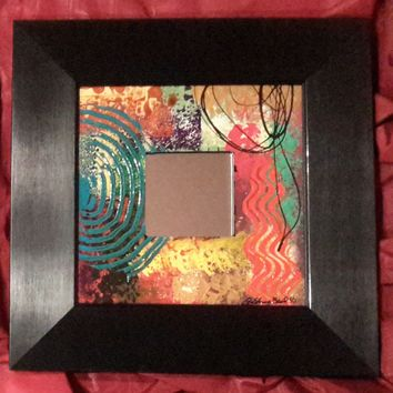 Hand Painted Mirror #174