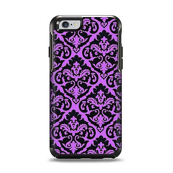 The Black & Purple Delicate Pattern Apple iPhone 6 Otterbox Symmetry Case Skin Set