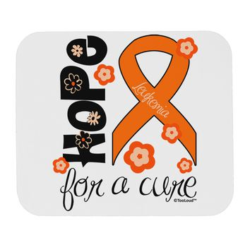 Hope for a Cure - Orange Ribbon Leukemia - Flowers Mousepad