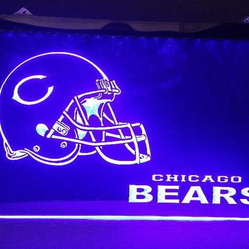 Chicago bears helmet beer bar pub club 3d signs LED Neon Light Sign man cave