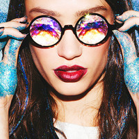 "Kaleidoscope ""Trippy"" Glasses - High Quality - EDM Rave Outfit & Party Accessories"