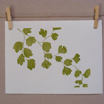 Fern Botanical  Handmade  PRINT by WoodenSpoonEditions on Etsy