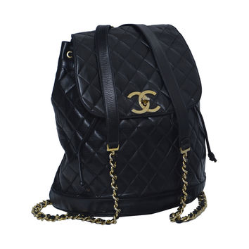 CHANEL Large Size Backpack Vintage