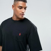 Polo Ralph Lauren Big & Tall T-Shirt Polo Player in Black at asos.com