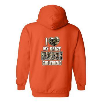"Men's/Unisex  Funny ""I Love My Crazy REDNECK Girlfriend"""