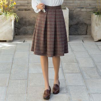 Women's Skirts Japan Punk Kawaii Ulzzang Ladies Plaid Pleated Casual Skirt Female Korean Harajuku Cute Clothing For Women
