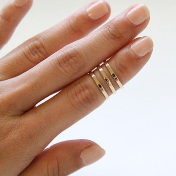 3 line Egyptian ring, 2 line and 4 line also available, everyday ring, chic, simple, delicate. adjustable size, sizable ring