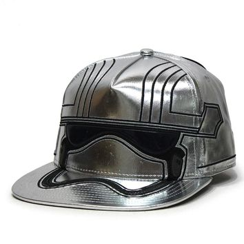 Star Wars Episode 7 Captain Phasma Bigface Flat Brim Snapback Baseball Cap