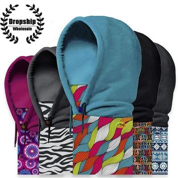 Men Women Sports Hoodies Breathable Fleece Face Balaclavas Windproof Thermal Balaclavas Scarf  Winter Warm Ski Snowboard Hood