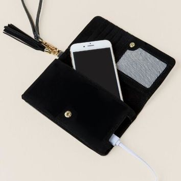 Alexis Distressed Phone Tech Wallet Wristlet