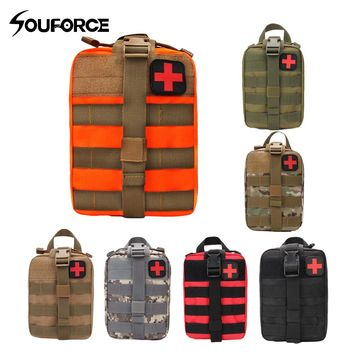 Outdoor EDC Molle Tactical Pouch Bag Emergency First Aid Kit Bag Travel Camping Hiking Climbing Medical Kits Bags