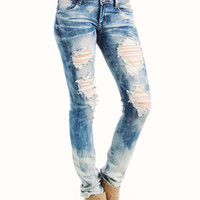 whiskered-distressed-jeans BLUE - GoJane.com