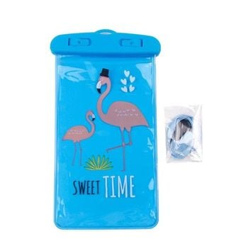 Swimming Pool beach QIFU Waterproof Mobile Phone Bag Unicorn Party Decor  Accessory for Mobile Phone Summer Party Supply Flamingo BagSwimming Pool beach KO_14_1