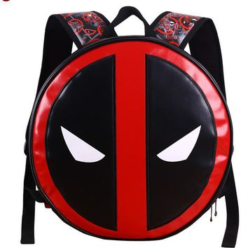 deadpool X man cartoon backpack American super hero bag