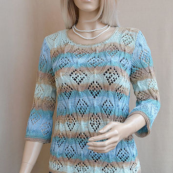 Multicolor knitted  sweater- lovely ,elegant and chic ...