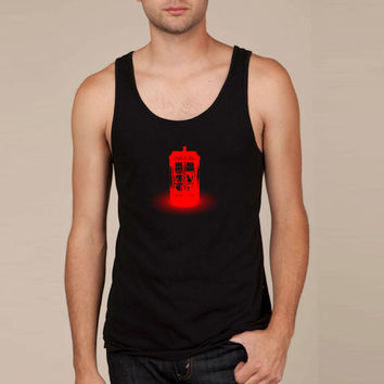 red tardis Tank Top