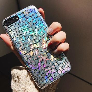 Glitter Snake texture Phone Cases For Apple iPhone 6, 6S, 7, 7Plus