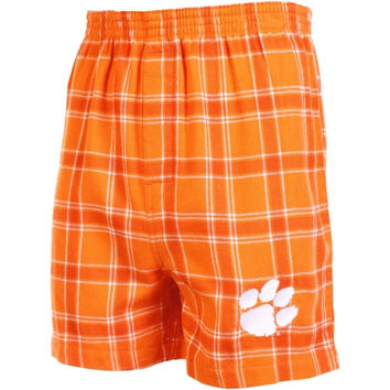 Clemson Tigers Acclaim Flannel Boxer Shorts – Orange