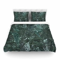 "Marianna Tankelevich ""Aventurine Space"" Green Gray Digital Featherweight Duvet Cover"