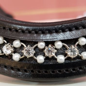 Red Barn Curved Pearl Browband