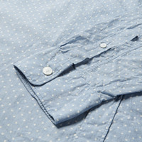 Todd Snyder Dot-Print Selvedge Cotton-Chambray Shirt | MR PORTER