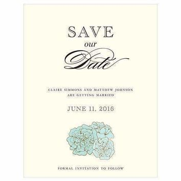 Burlap Chic Save The Date Card (Pack of 1)