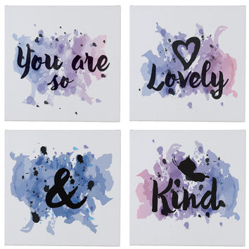 Oh So Lovely Wall Canvases - Set of 4